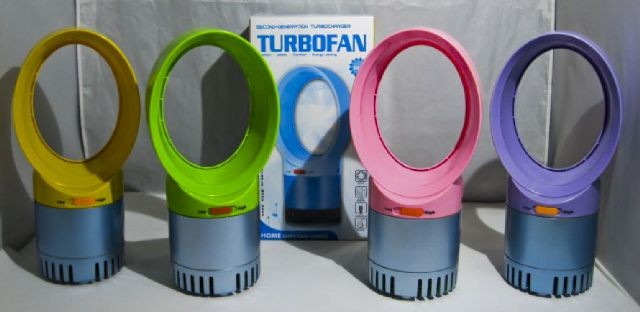 Colorful Mini Table Bladeless Fan usb